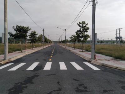 Đất thổ cư 100m2, ngay mặt tiền đường, kẹt tài chính bán gấp