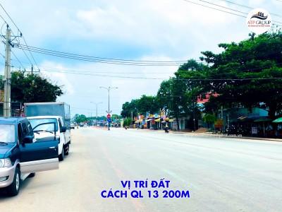 Bán lô đất mặt tiền tỉnh lộ 750 Bàu Bàng. cách quốc lộ 13 500m. 5x18 thổ cư full