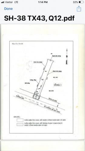 Đất mặt tiền Thạnh Xuân 43, Q12, cách Hà Huy Giáp 200m, thổ cư hết giá 29 triệu/ m2 thương lượng nhẹ.