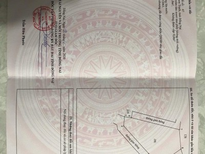 Đất Vĩnh Thanh, Nhơn Trạch. Diện tích 288m2. Giá 1,3 tỷ trọn sổ.