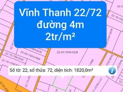 Đất chính chủ : Vĩnh Thanh, Nhơn Trạch, Đồng Nai. Giá 2triệu/ m² thương lượng.