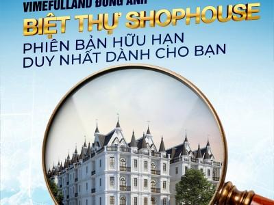 Đầu tư dài hạn Shophouse Trung tâm thị trấn Đông Anh giá chỉ từ 11,6 tỷ. sổ đỏ lâu dài