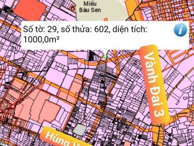 Đất Vĩnh Thanh, Nhơn Trạch, Đồng Nai 1000m, trọn sổ 3 tỷ 7.