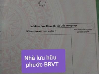 Bán căn nhà đường Lưu Hữu Phước, Phường Long Tâm, Bà Rịa Vũng Tàu. Giá hợp lý.