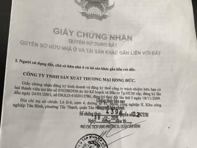 Mình trực tiếp chủ, bán 1 ha khu công nghiệp Tân Bình. Giá 23 triệu / m2.