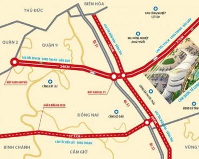 Sơ Đồ Dự Án Sân Bay Long Thành, Cao tốc Dầu Giây -  Phan Thiết, Biên Hòa - Vũng Tàu